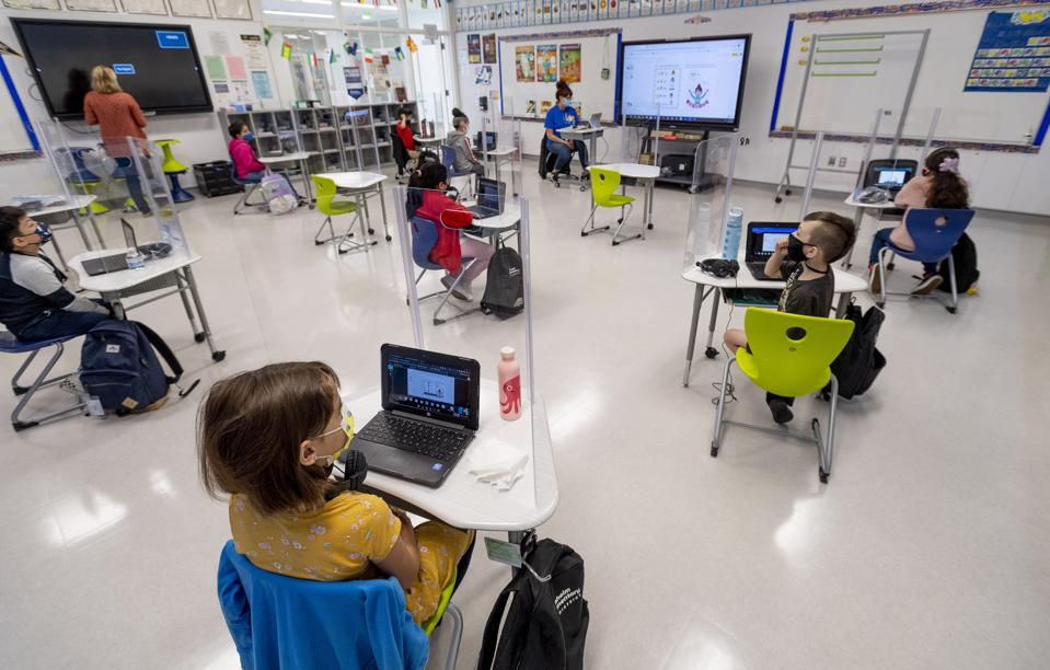 Students return to the classroom for hybrid learning
