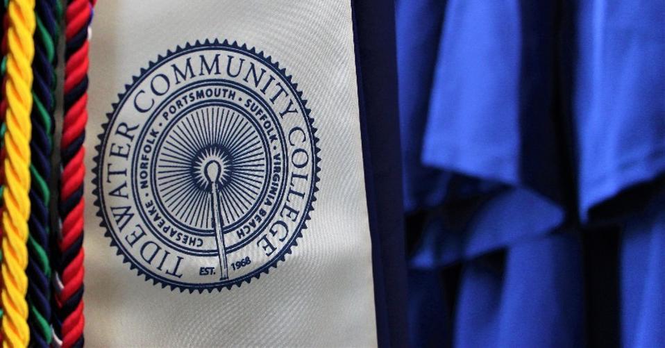 Tidewater Community College graduation regalia