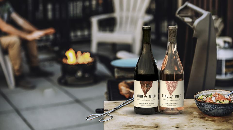 Two of the options from Kind of Wild, an organic and vegan direct to consumer wine brand.