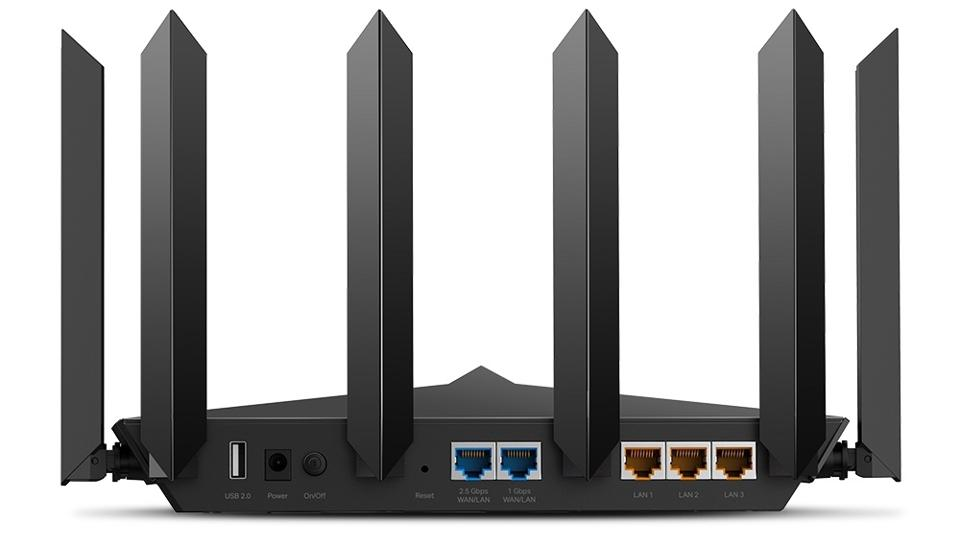 Rear view of TP-Link Archer AX90