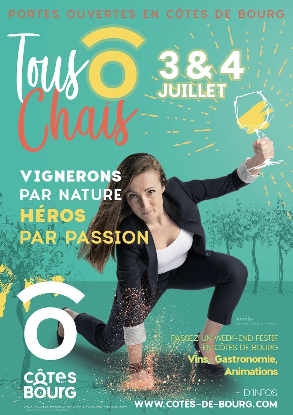 Winemaker Amélie Osmond highlights Bourg wine festival