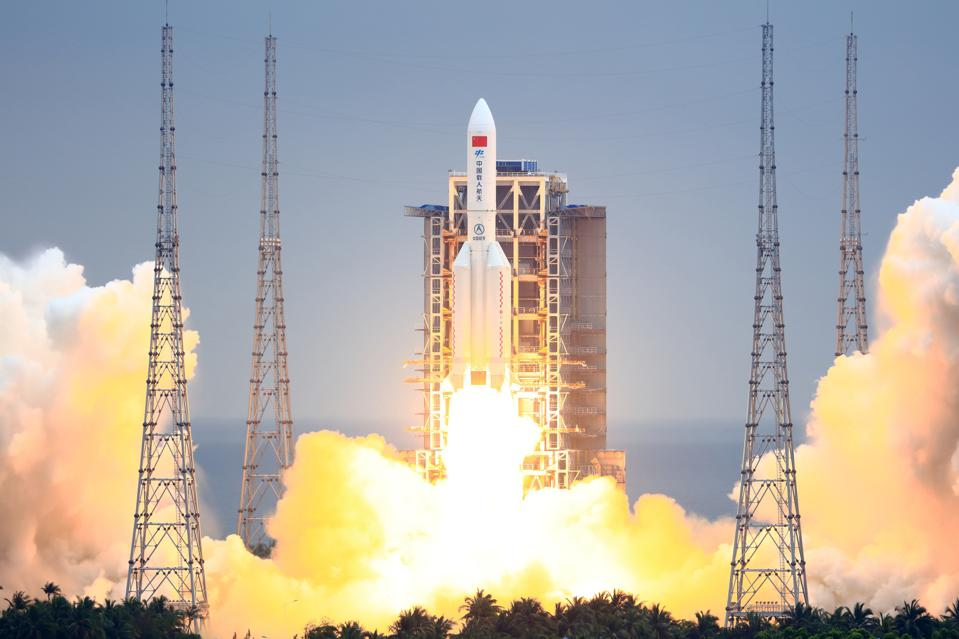 China Launches Space Station Core Module Tianhe  - 960x0 - A Huge Chinese Rocket Will Crash To Earth This Weekend Just As China's New Space Station Becomes Visible In The Night Sky
