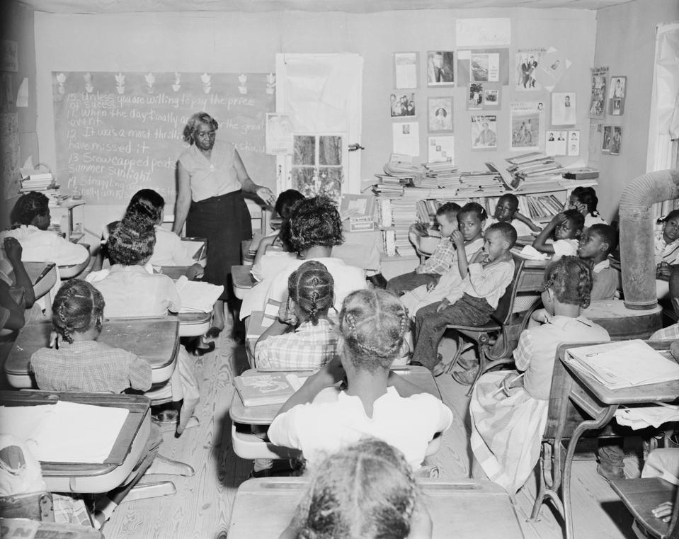 Crowded Segregated Classroom
