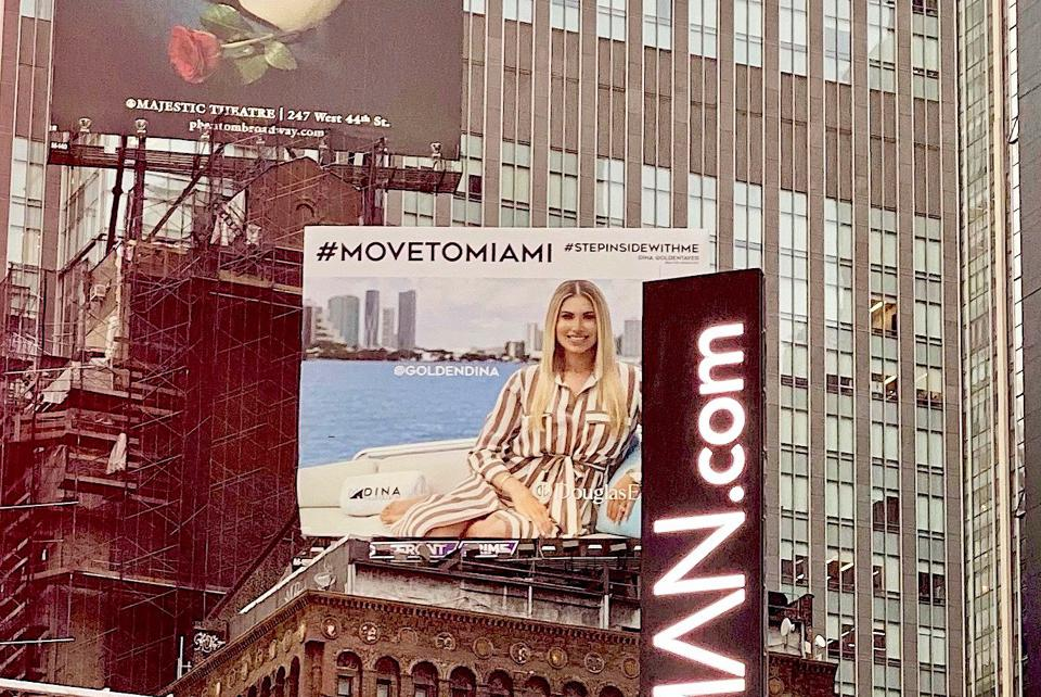 Miami Manhattan Times Square real estate marketing