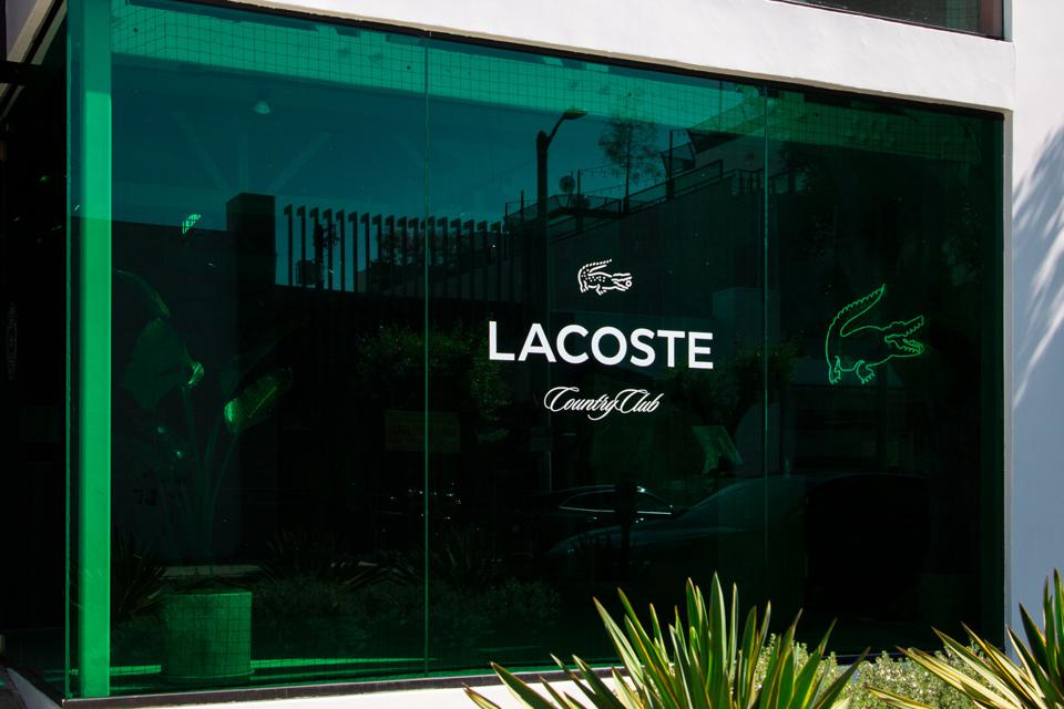 Storefront of Lacoste Store