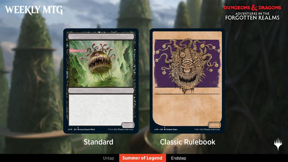 The Beholder and its Classic Rulebook Showcase frame.