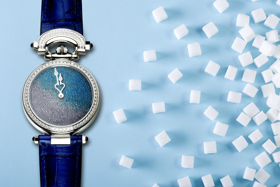 Bovet Miss Audry Sweet Art watch with sugar-crystal dial