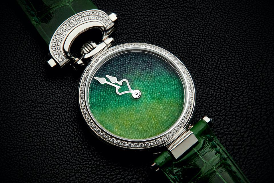 Bovet watches with sugar crystals for the dial.