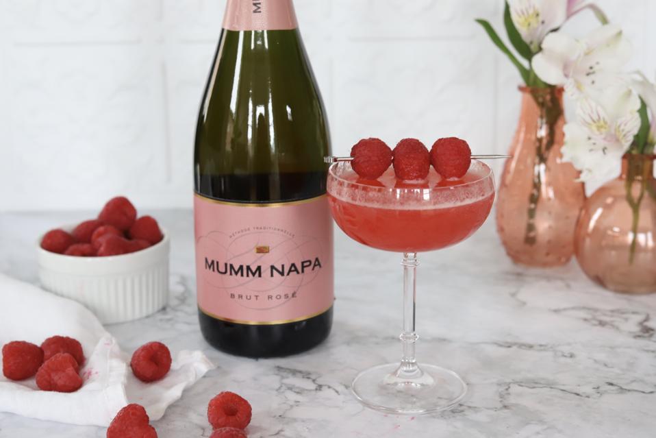 Mumm Napa Brut rosé stars in a raspberry cocktail.