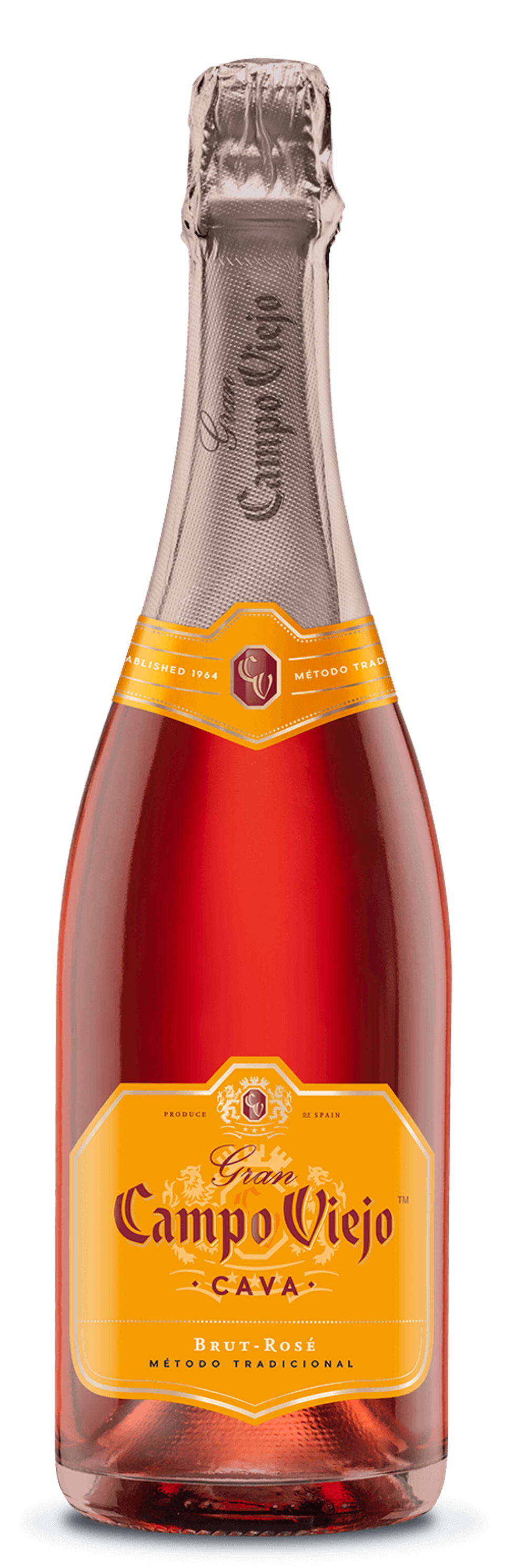 A bottle of Campo Viejo sparkling rosé is made by an all-woman team.
