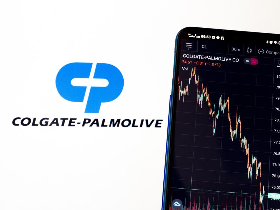 In this photo illustration, Colgate-Palmolive Company stock...