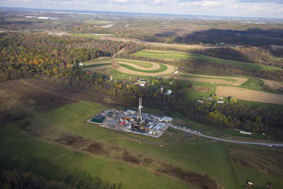 A frac job in the Marcellus Formation In Robinson Township, Pennsylvania