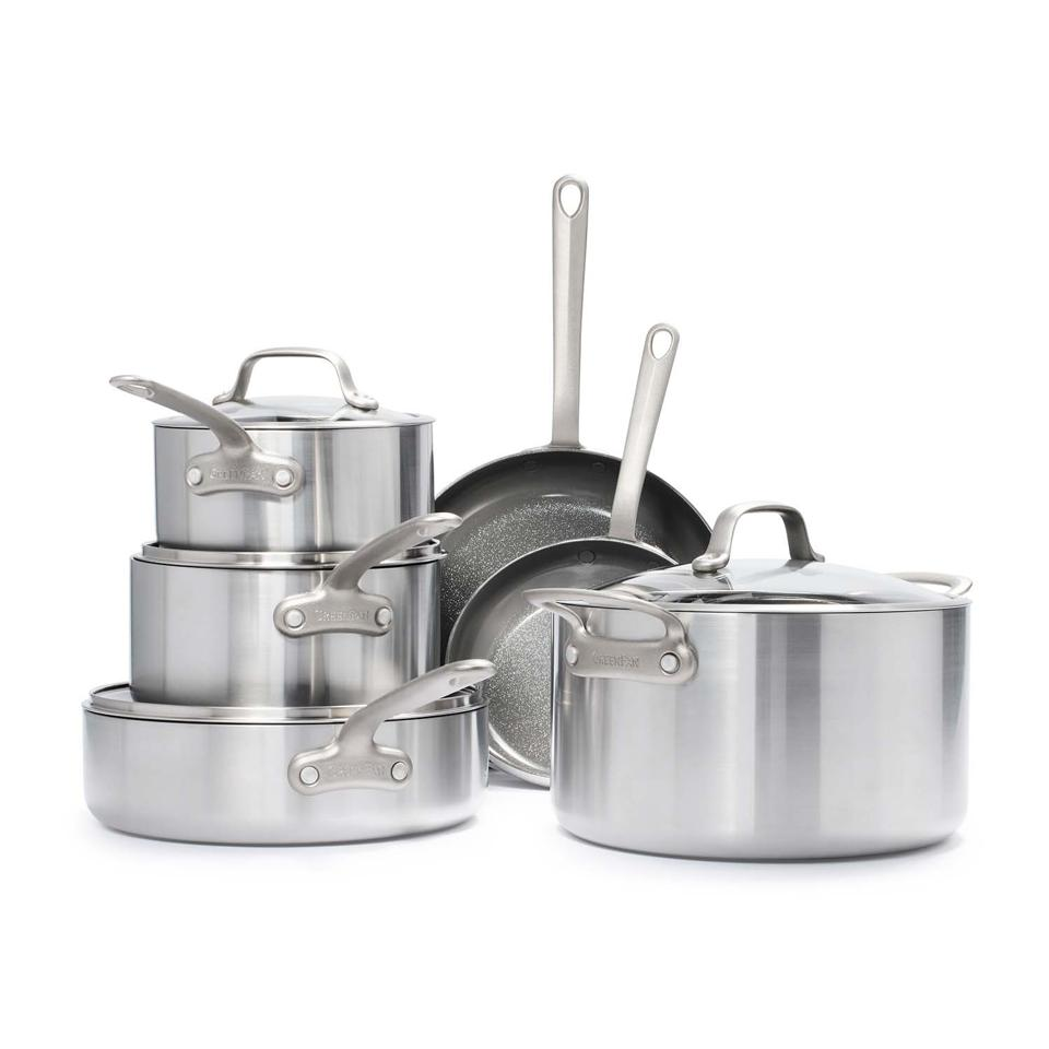 Best deals: GreenPan Craft Steel 10-Piece Cookware Set with Bonus Pan Protectors