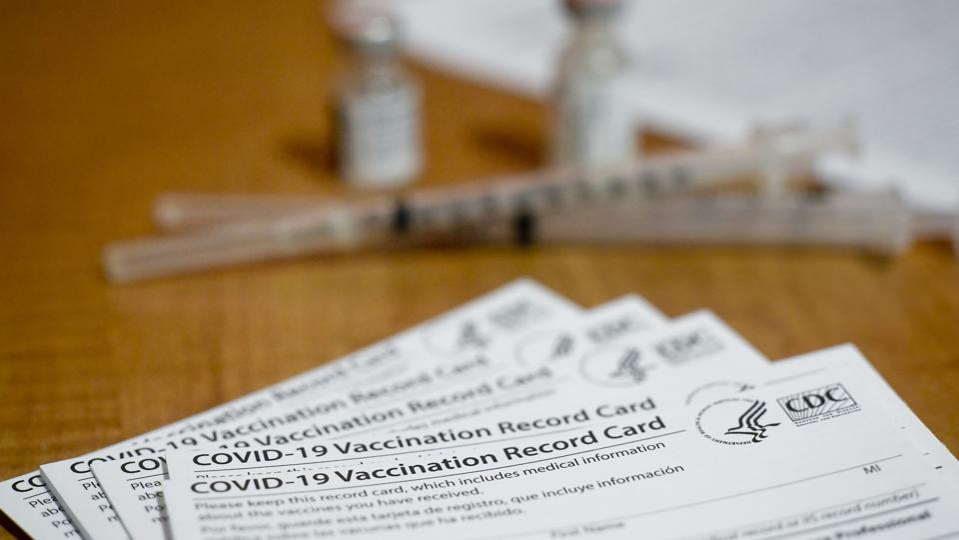 COVID-19 Vaccine cards CDC