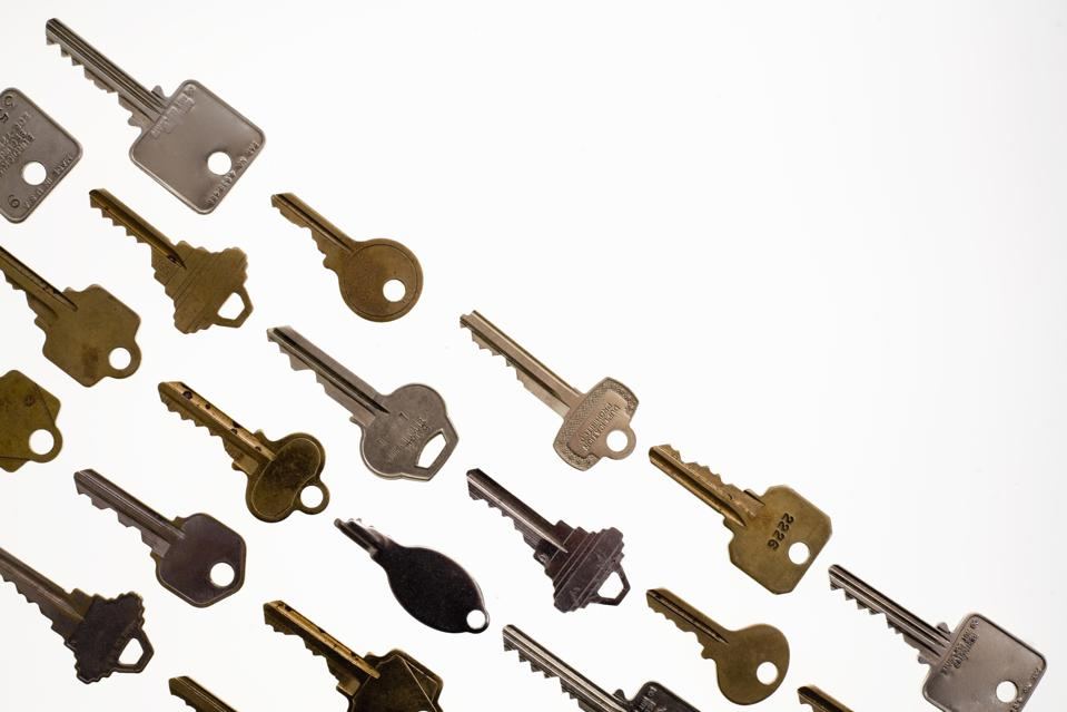 Rows of keys