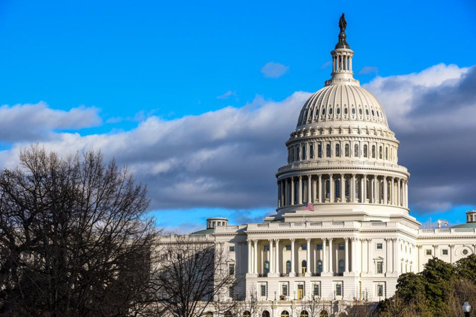 US Congress - Capitol Building at Capitol Hill in Washington DC, United States in winter