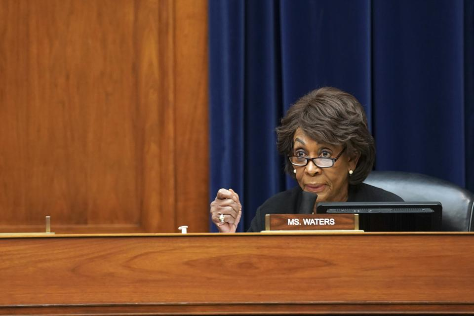 House Financial Services Committee Chair Maxine Waterws (D-CA) said legislation is needed to improve AI in achieving fair housing and fair lending goals.