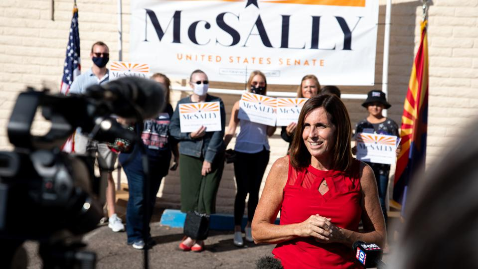 Sen. Martha McSally Campaigns In Phoenix On Day Before Election
