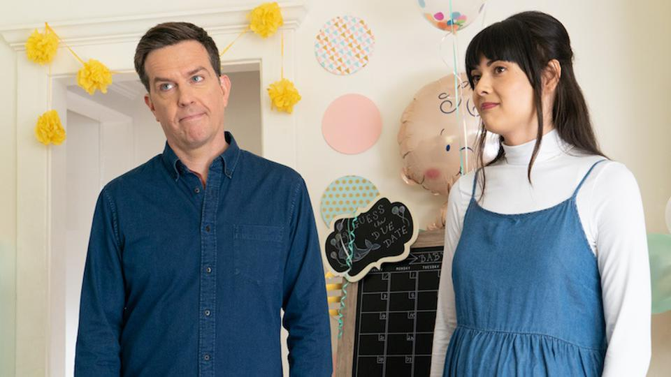 Ed Helms and Patti Harrison in 'Together Together.″