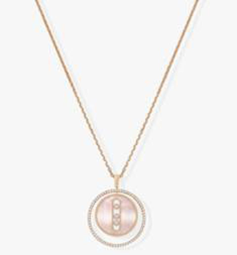 Messika Pink Mother-Of-Pearl Lucky Move Necklace
