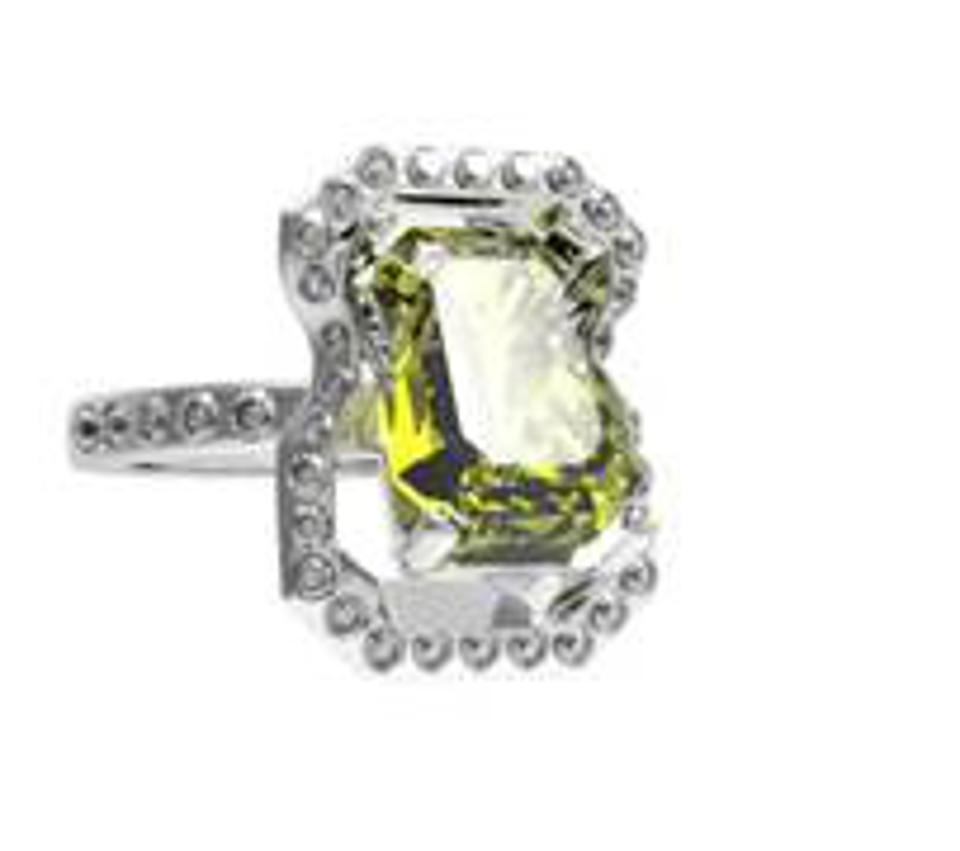 51 E JOHN Constraint Collection Inclined Gem Ring