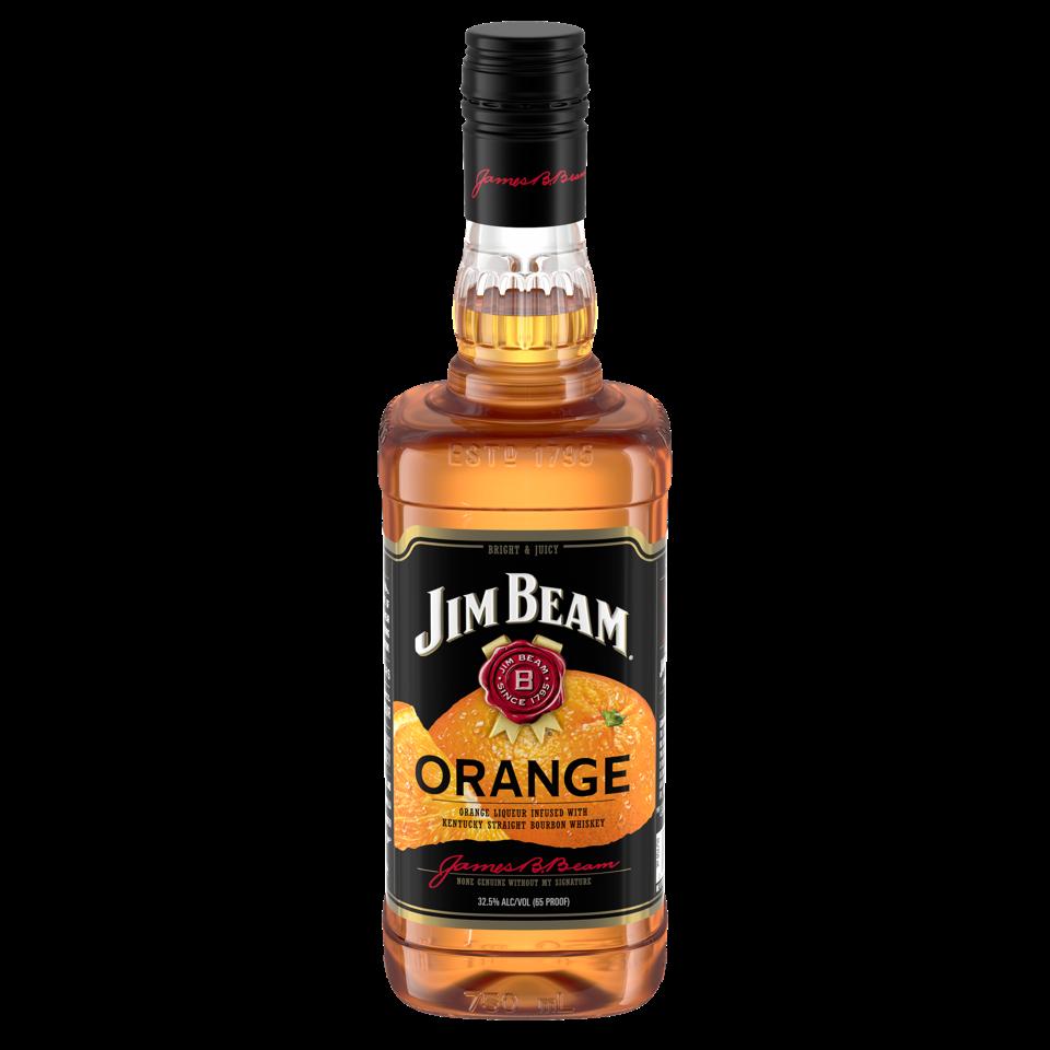 A bottle of Jim Beam Orange.