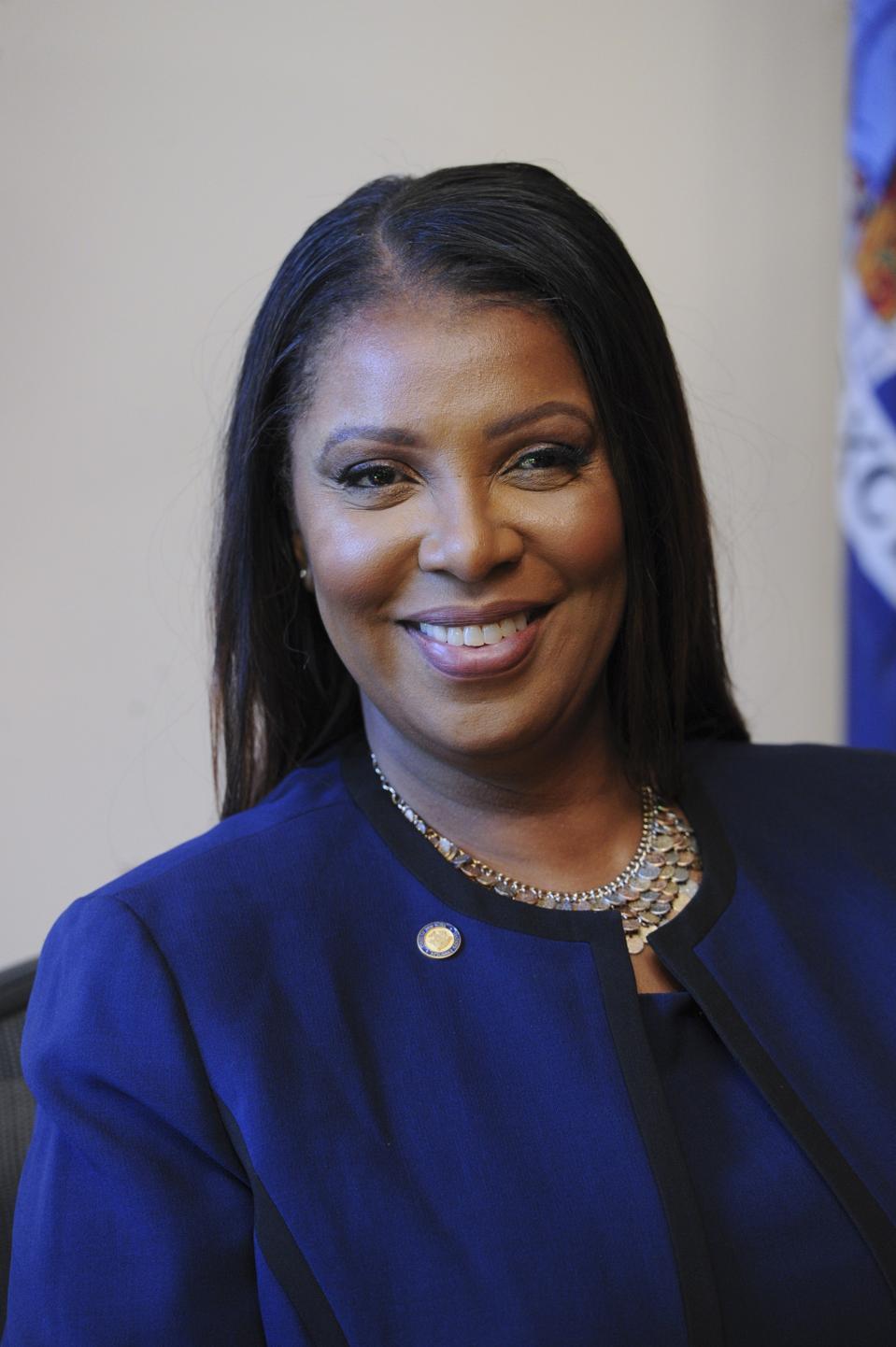 Letitia James adalah Jaksa Agung ke-67 untuk Negara Bagian New York