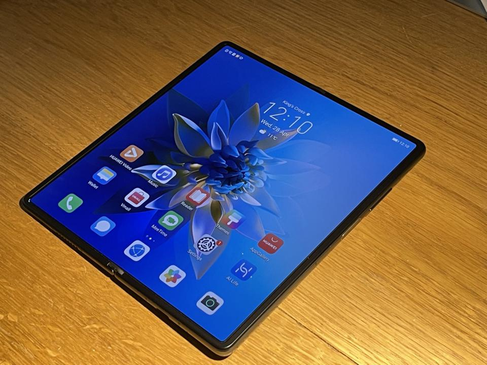 Huawei Mate X2 unfolded.