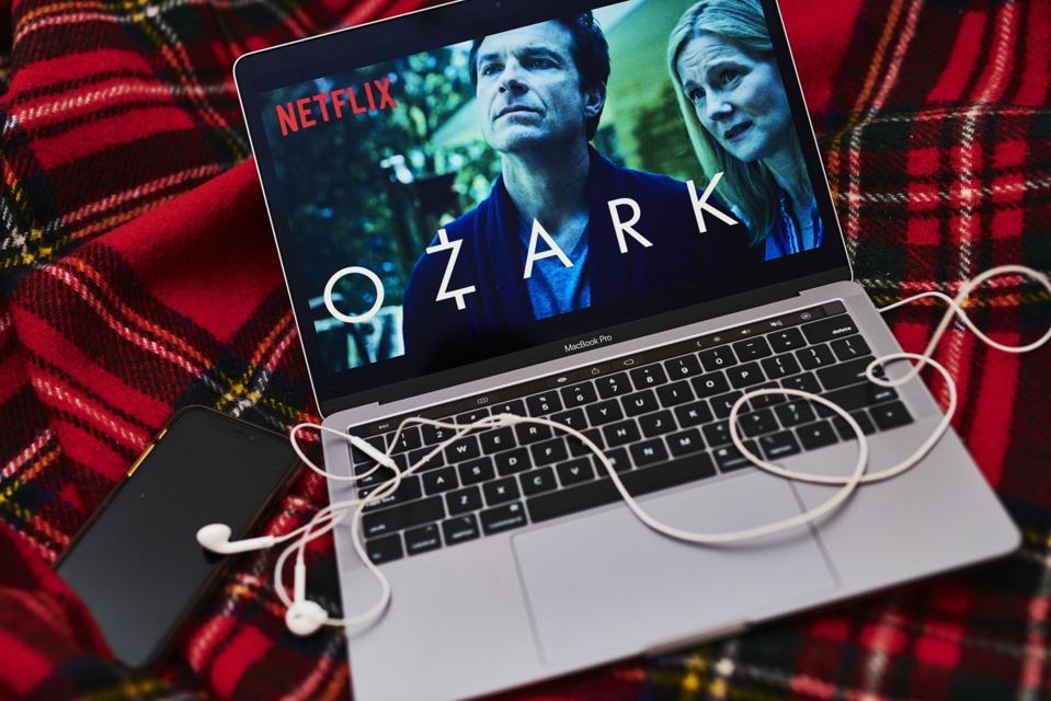 Ozark on laptop screen