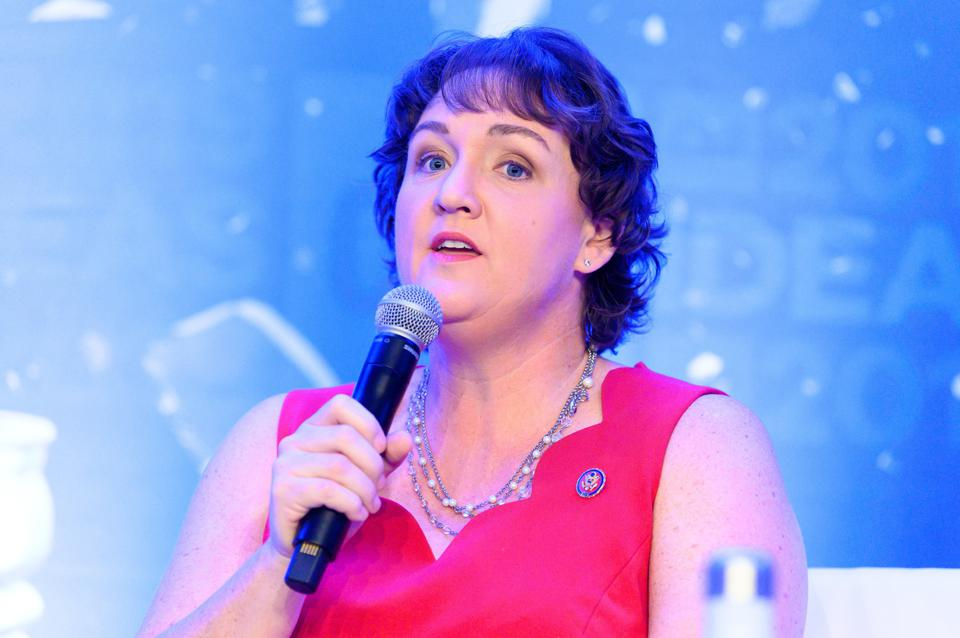 Rep. Katie Porter (D-CA) speaking at The Center for American...