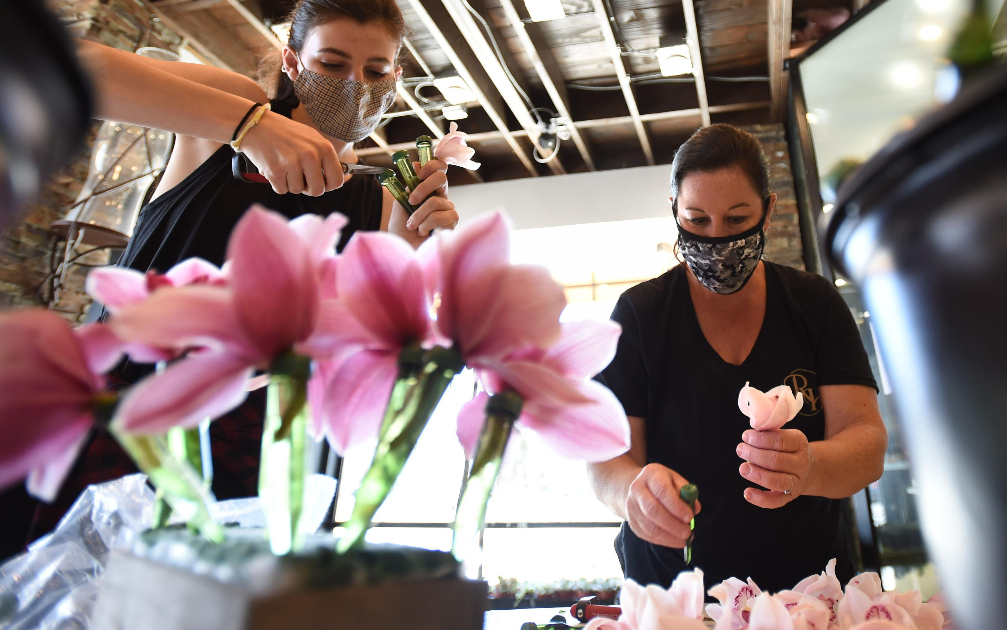 Florist are busy filling orders for Mother's Day now that Governor Newsom has orders shops reopened for curbside pick-up