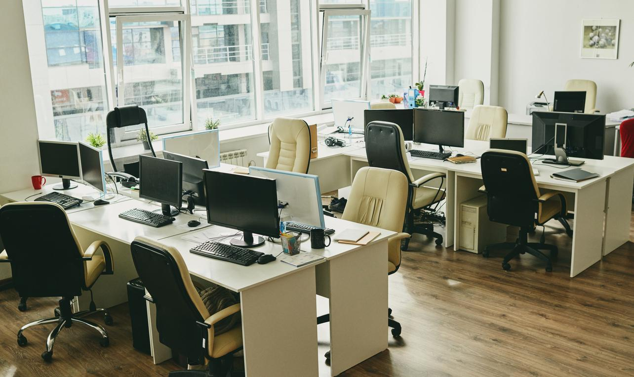 Nobody in modern office
