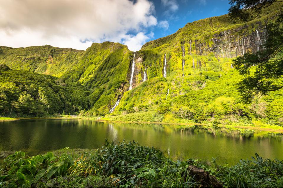 Flores Island in the Azores archipelago, Portugal