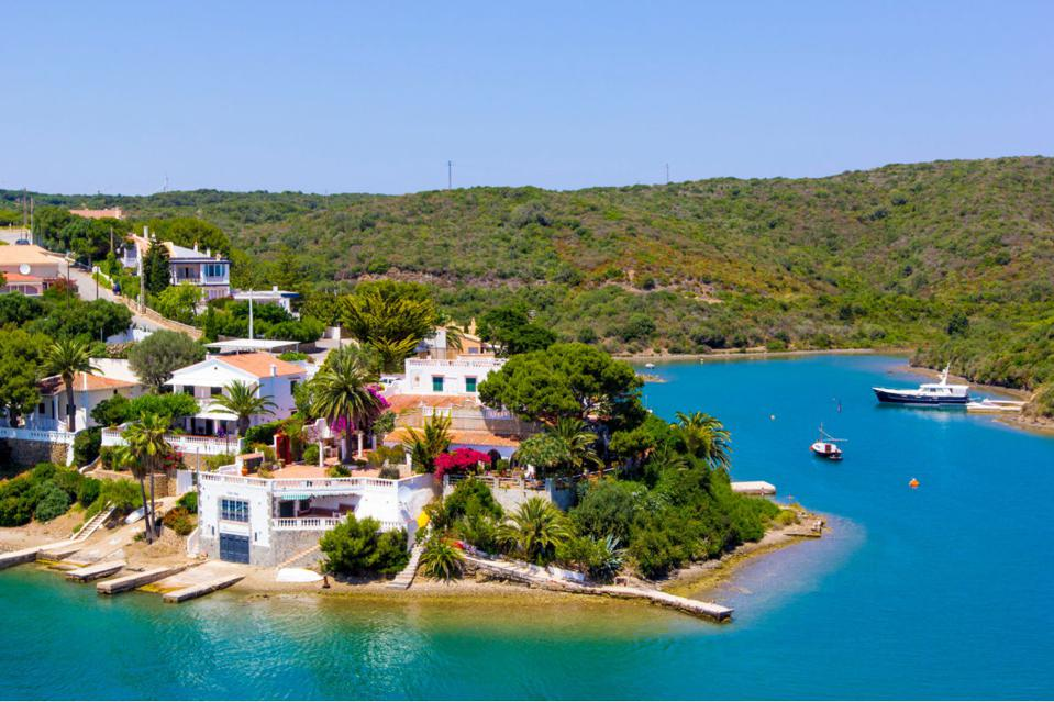 A view of Menorca, one of Spain's Balearic islands