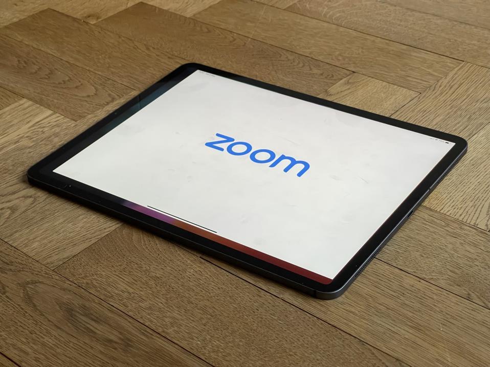 Zoom on iPad.