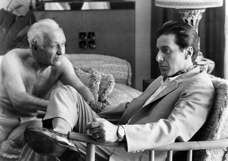 映画The Godfather、Part IIのLee StrasbergとAl Pacino