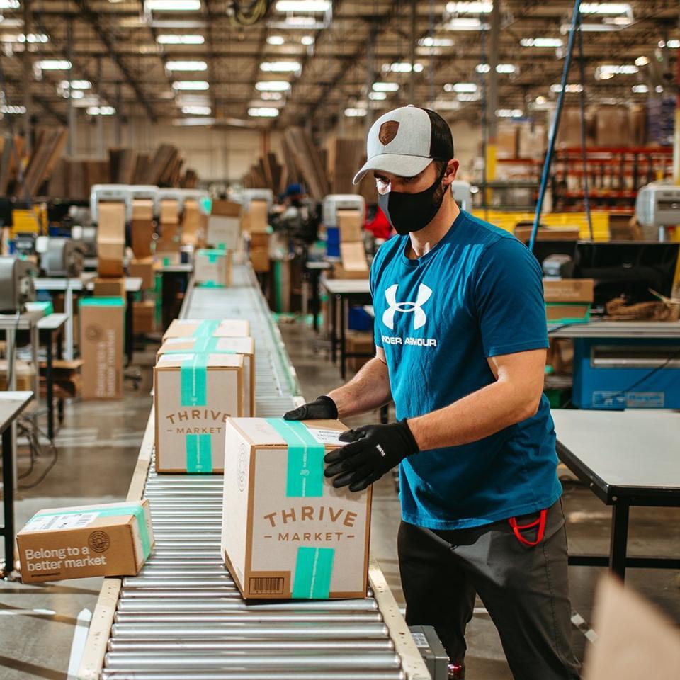 packaging, Thrive Market, online shopping, fulfillment, warehouse