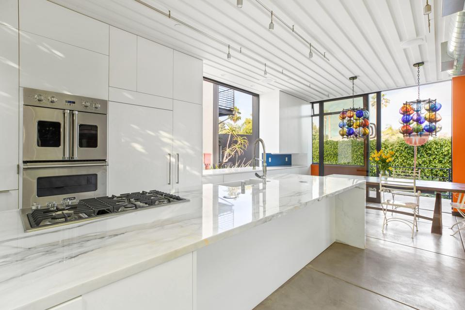 venice beach chef's kitchen at todd piccus luxury home invader 813 palms