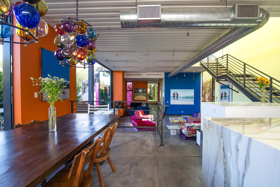 colorful venice beach modern warehouse home of todd piccus invader 813 palms