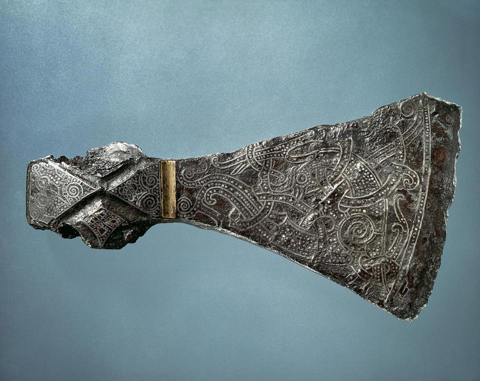 The ceremonial axe from the Mammen burial site in Denmark.