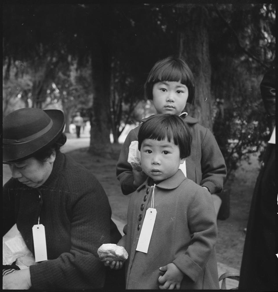Hayward, California, Two Children of the Mochida Family who, with Their Parents, Are Awaiting Evacuation