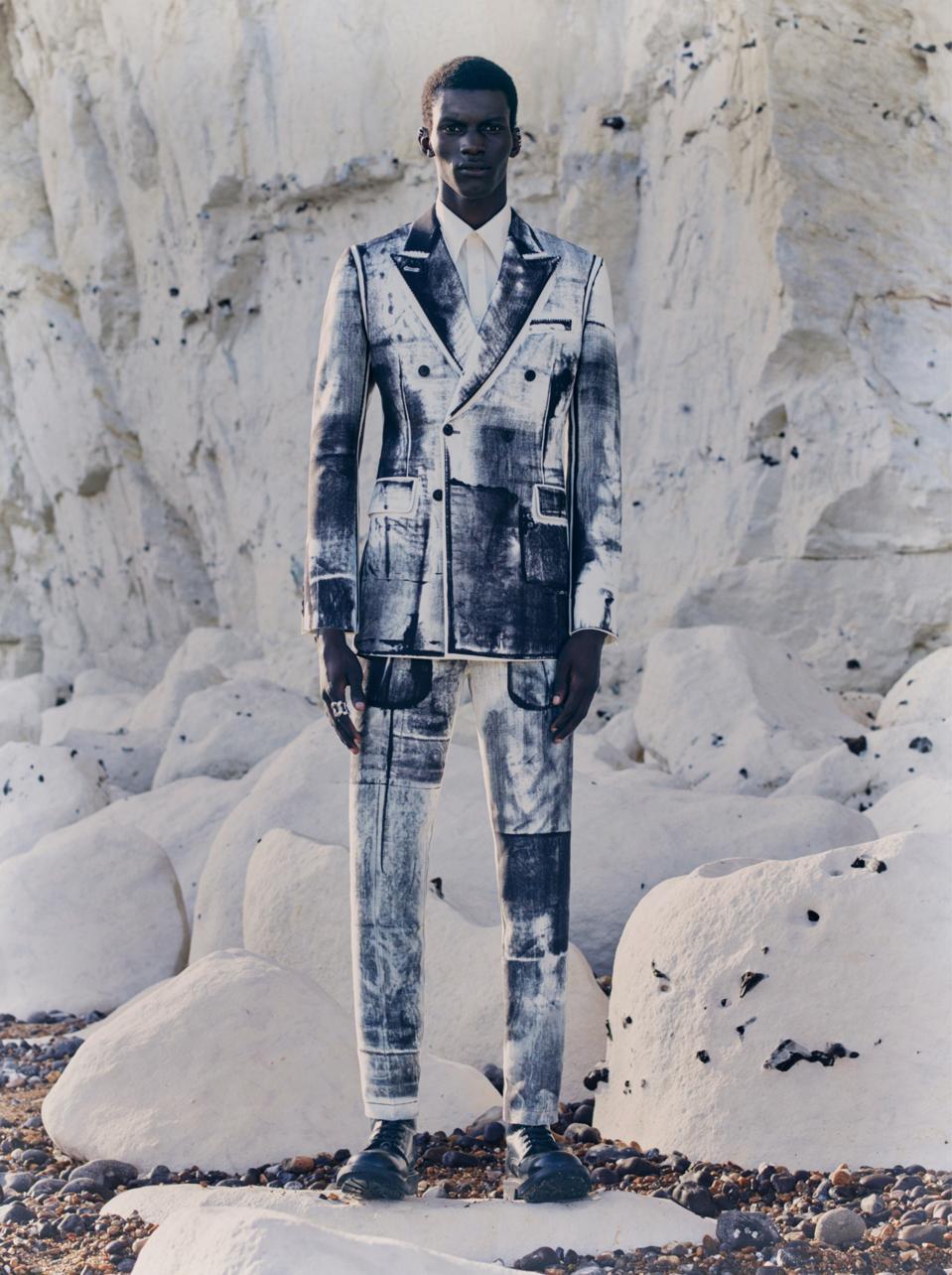 Alexander McQueen SS21 suit