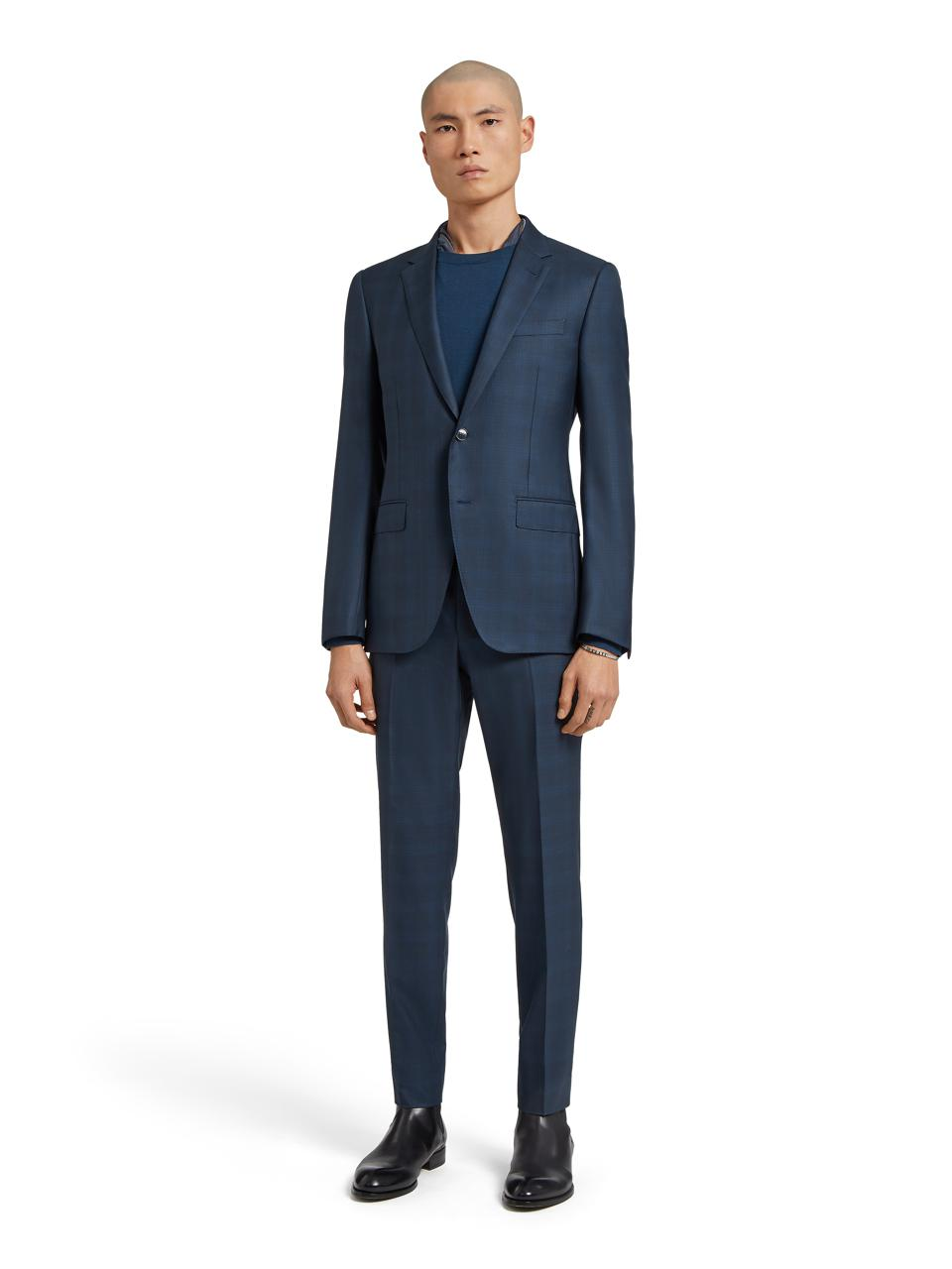 Wool and Silk Trofeo Suit by Ermenegildo Zegna