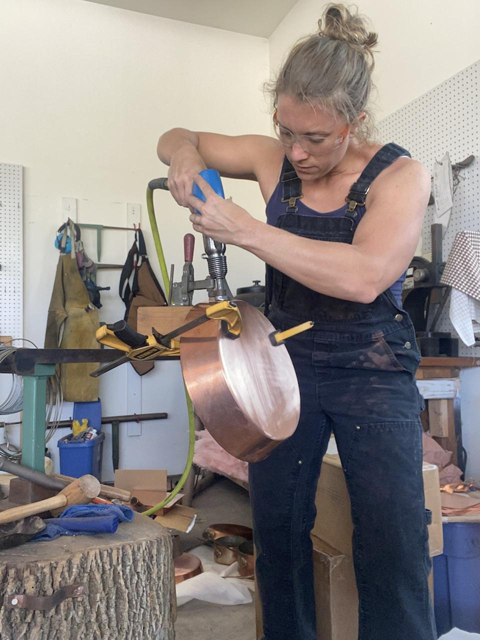 Restoring copper cookware