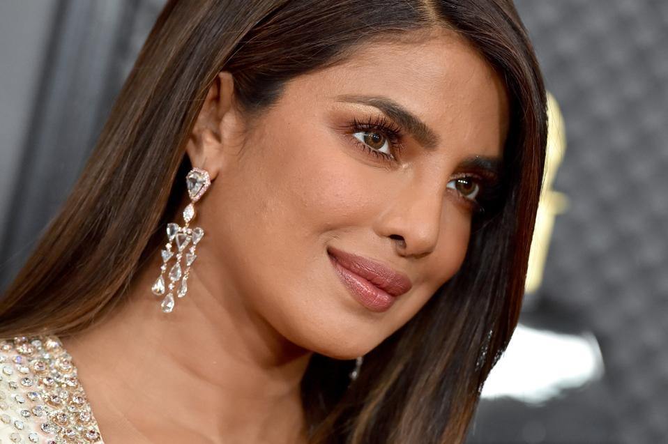 close up of Priyanka Chopra Jonas at the 62nd Annual GRAMMY Awards