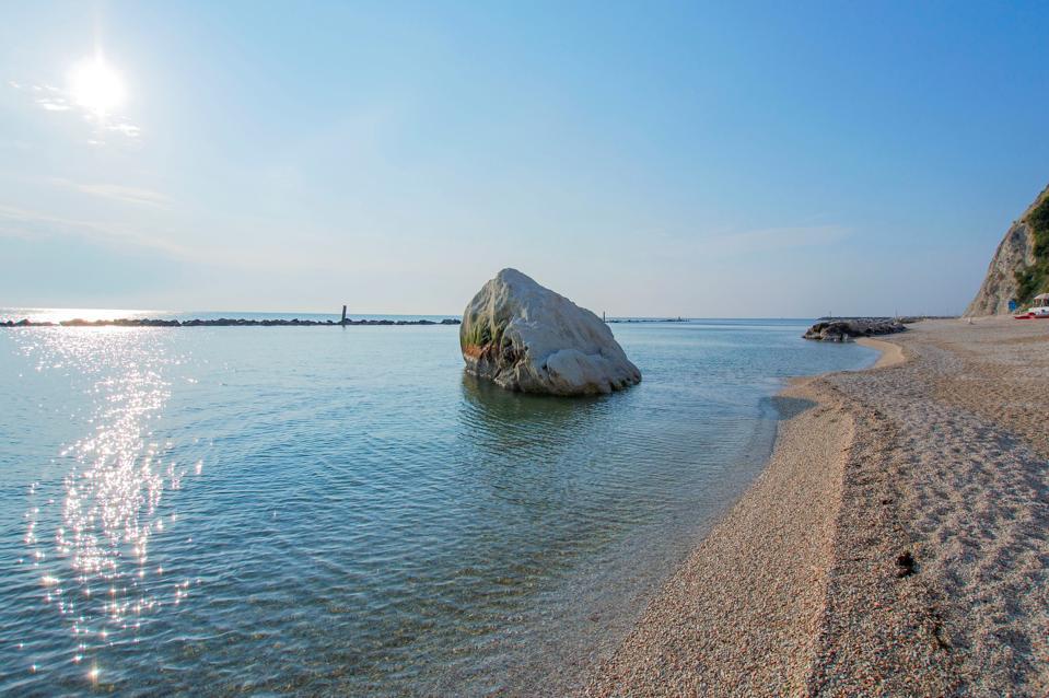 Seascape. Beach of Numana. Marche. Italy. Europe