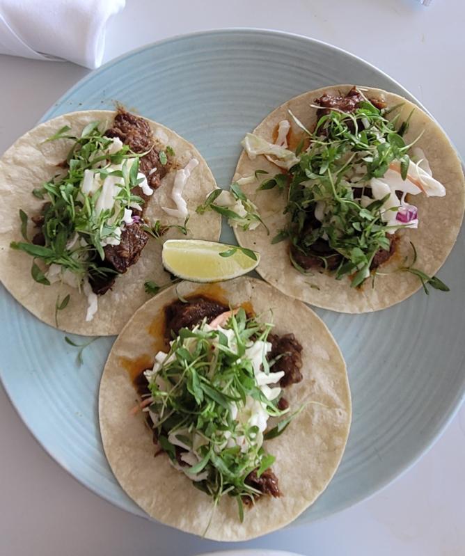 Short Rib Tacos at Lido Bayside Grill, at The Standard Hotel