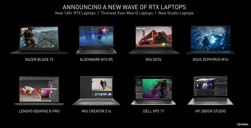 Some Of The Newest RTX Laptops.
