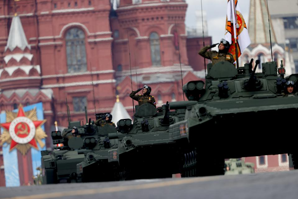 Red Square Military Parade Rehearsals