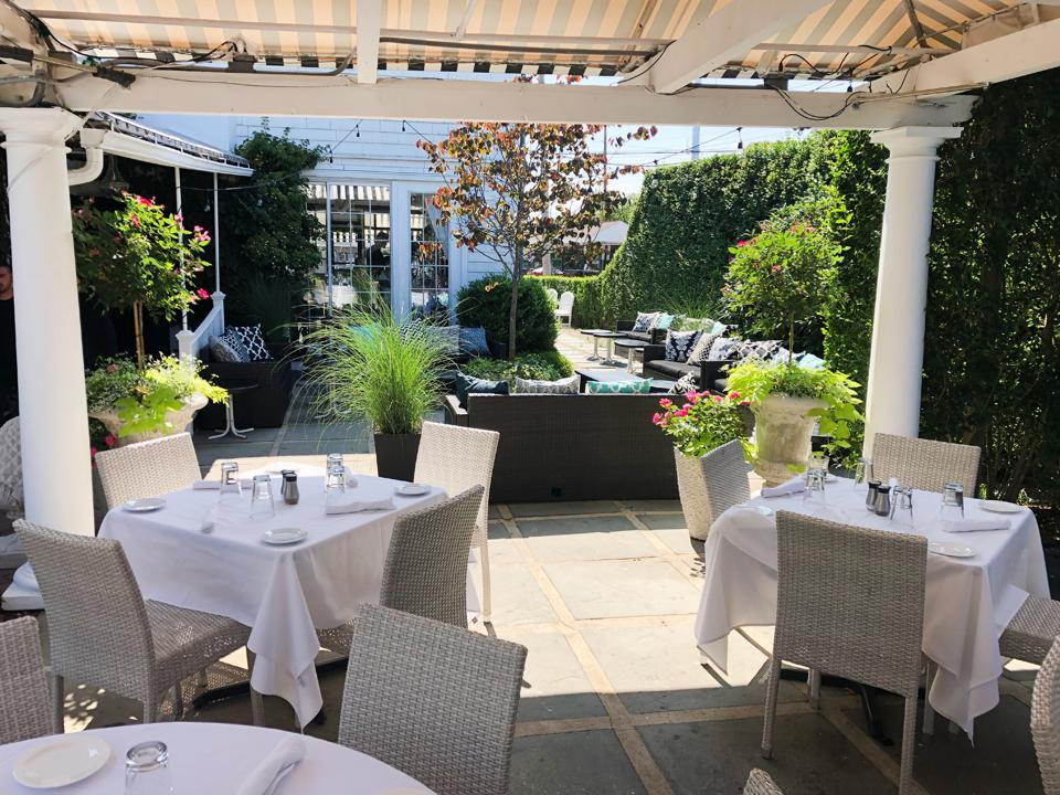 The sprawling outdoor patio at T-Bar Southampton.